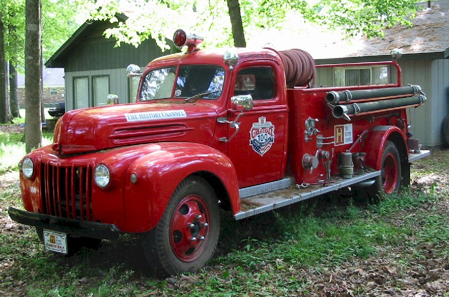 The grill of a 1946 Ford Truck